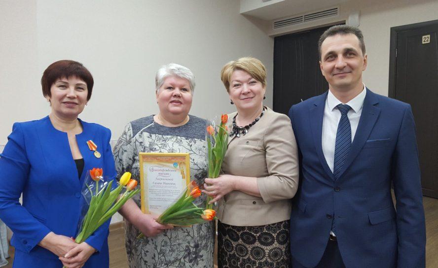 Эжвинских активисток поздравили на торжественном приеме руководителя