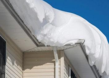 Внимание! Меры безопасности при сходе снега