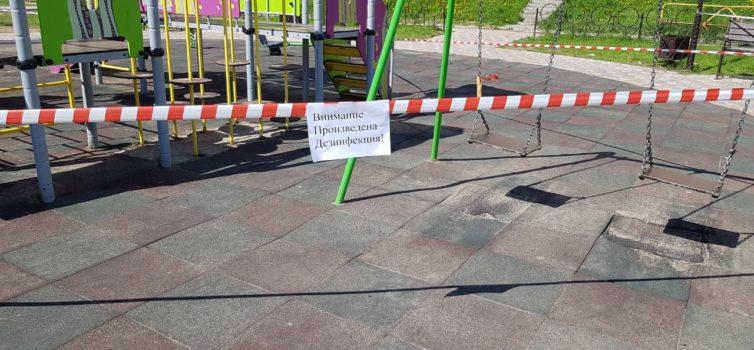 В Эжвинском районе провели дезинфекцию детских площадок
