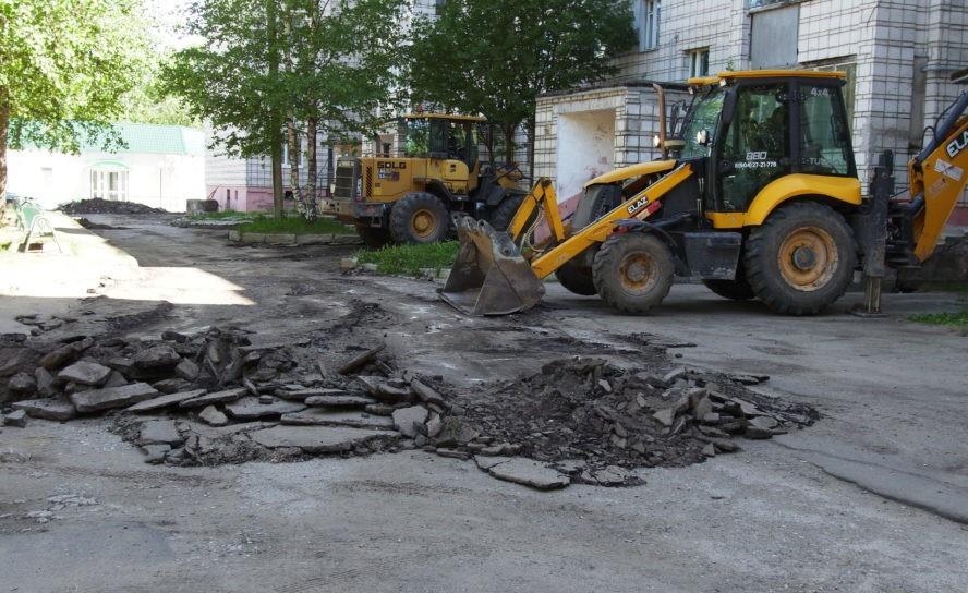В Эжве приступили к ремонту дворов